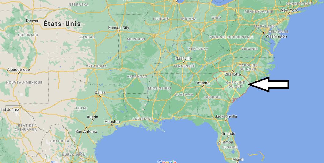 Où se situe la Caroline du Sud