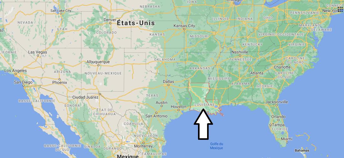 Où se situe la Louisiana