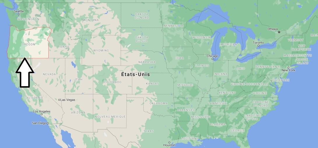 Où se situe la Oregon
