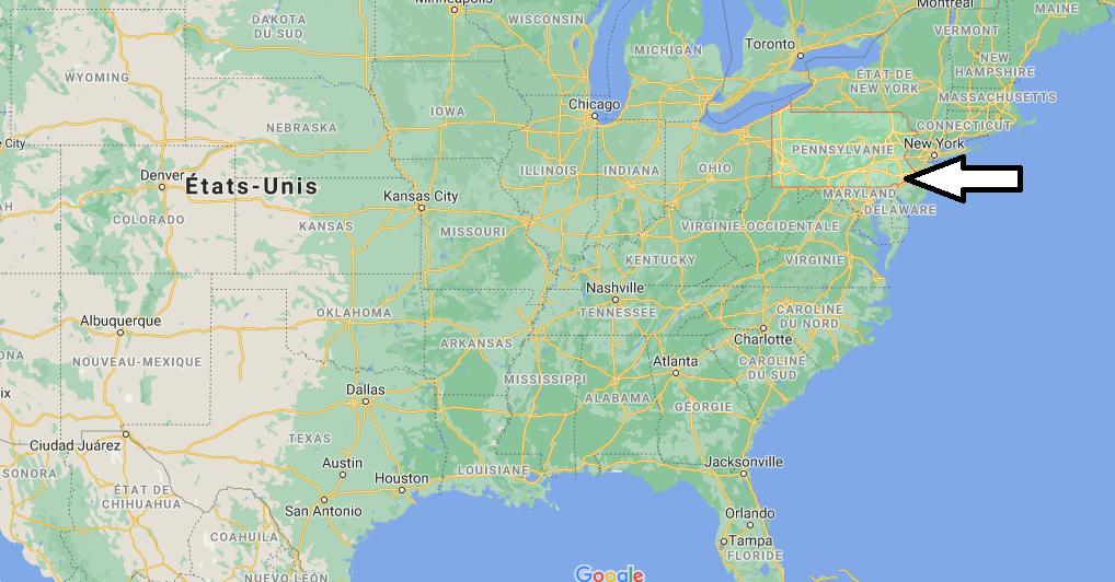 Où se situe la Pennsylvania