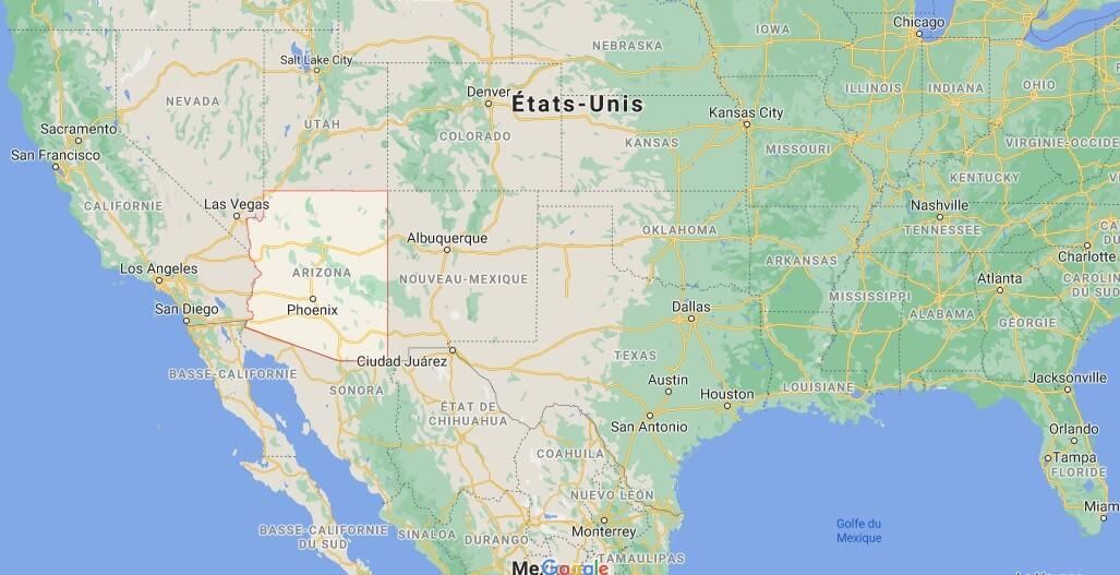 Où se situe le Arizona