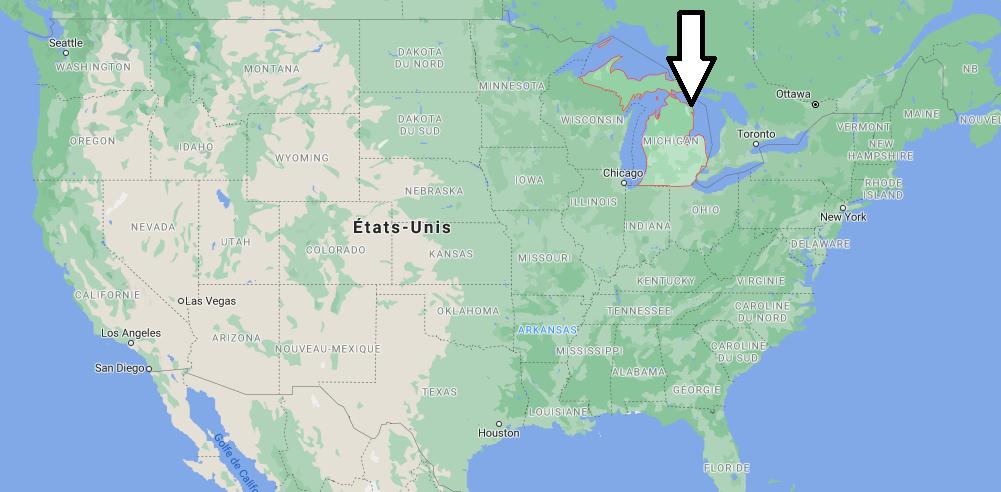 Où se situe le Michigan