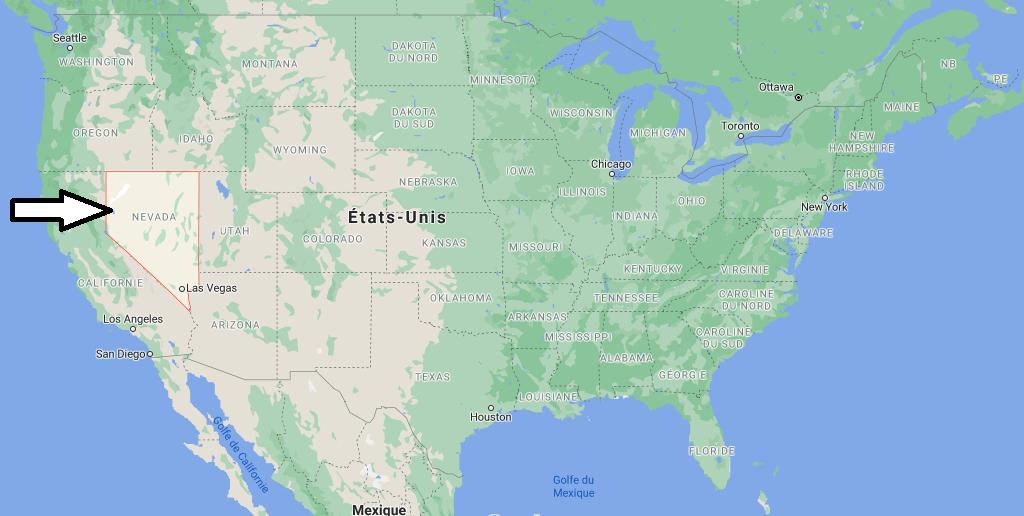 Où se situe le Nevada