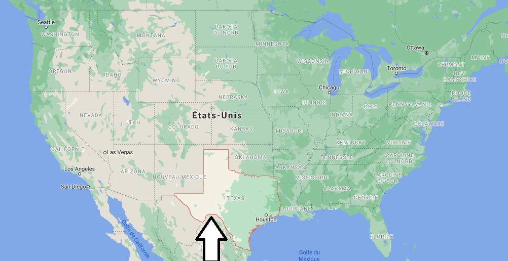 Où se situe le Texas