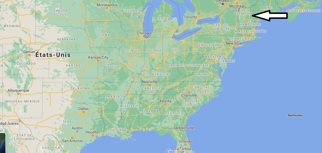 Où se situe le Vermont