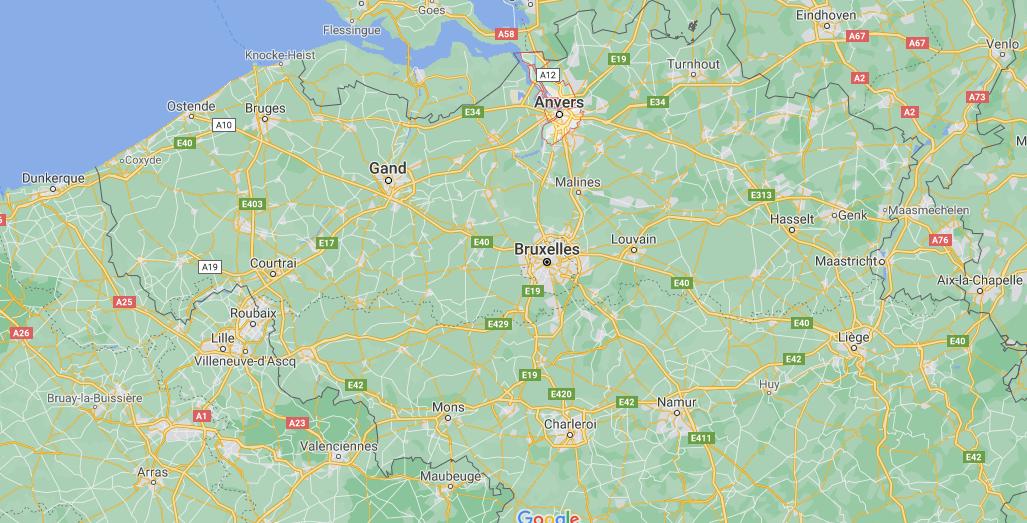 Où se trouve Anvers sur la carte