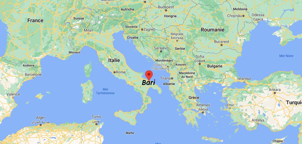 Où se trouve Bari sur la carte