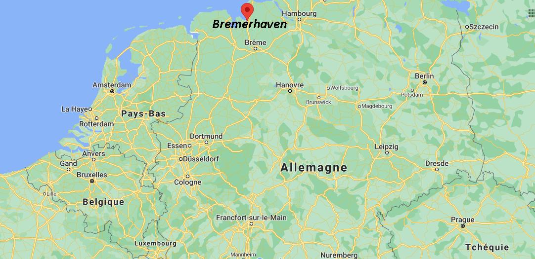 Où se trouve Bremerhaven sur la carte