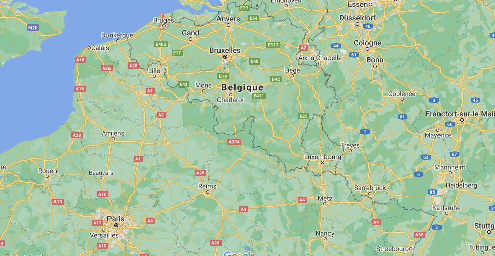 Où se trouve Bruges sur la carte