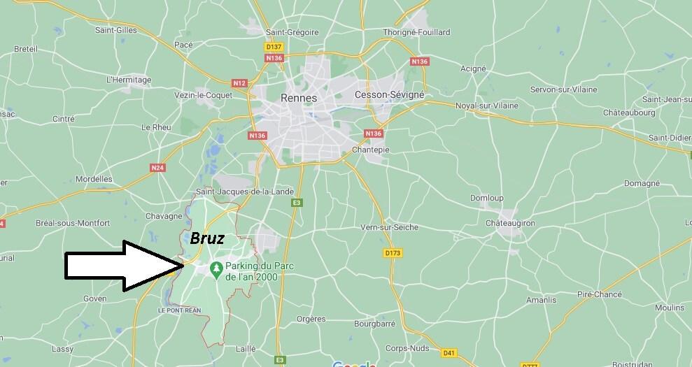 Où se trouve Bruz