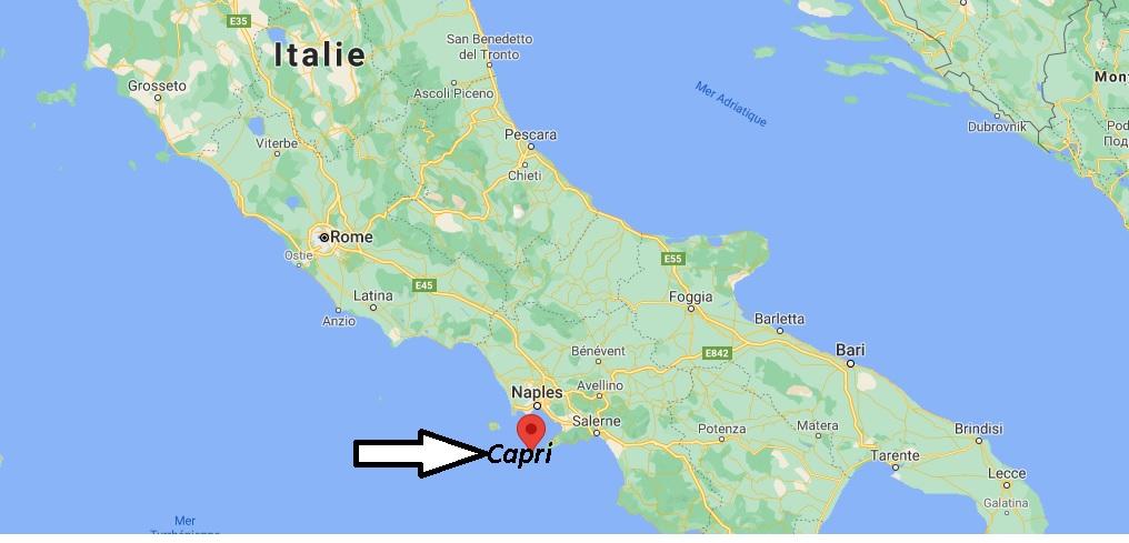 Où se trouve Capri