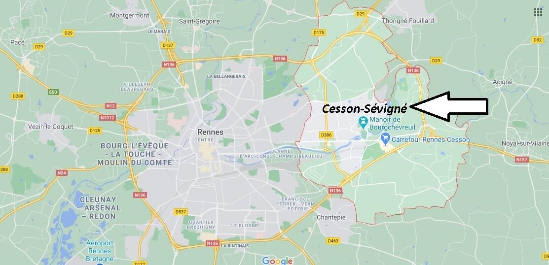 Où se trouve Cesson-Sévigné