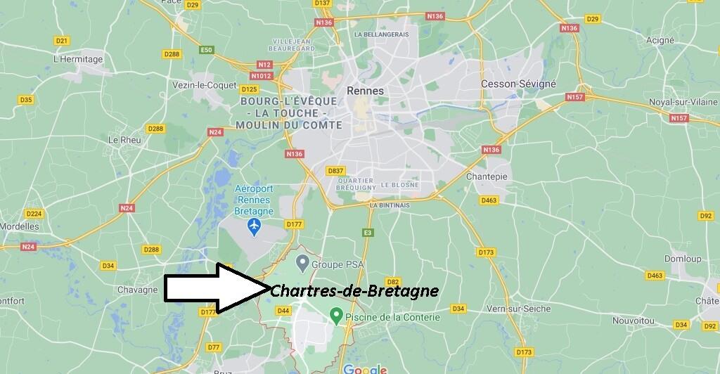 Où se trouve Chartres-de-Bretagne