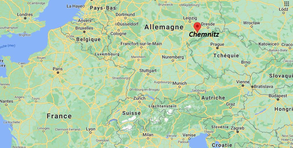 Où se trouve Chemnitz sur la carte