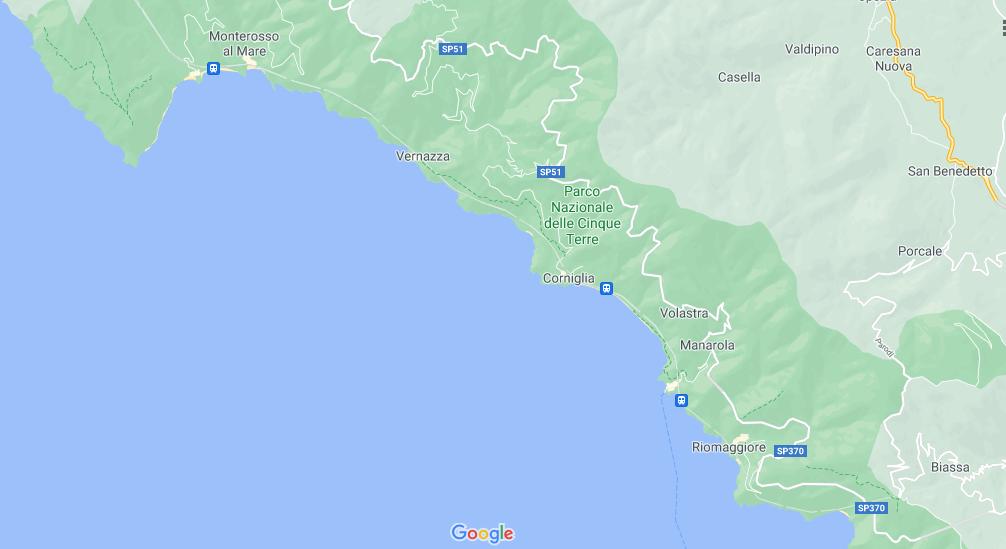 Où se trouve Cinque Terre sur la carte