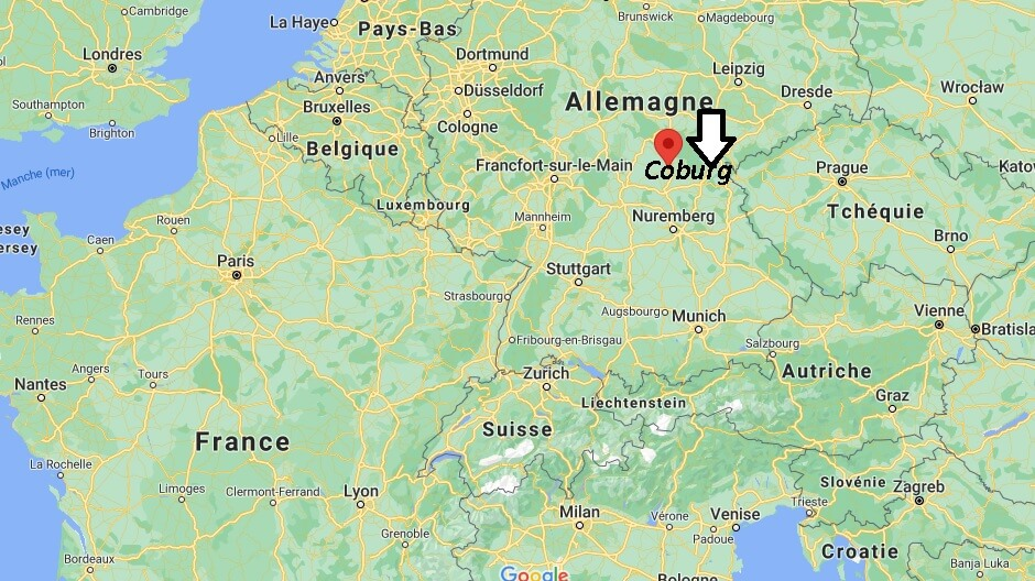 Où se trouve Coburg sur la carte