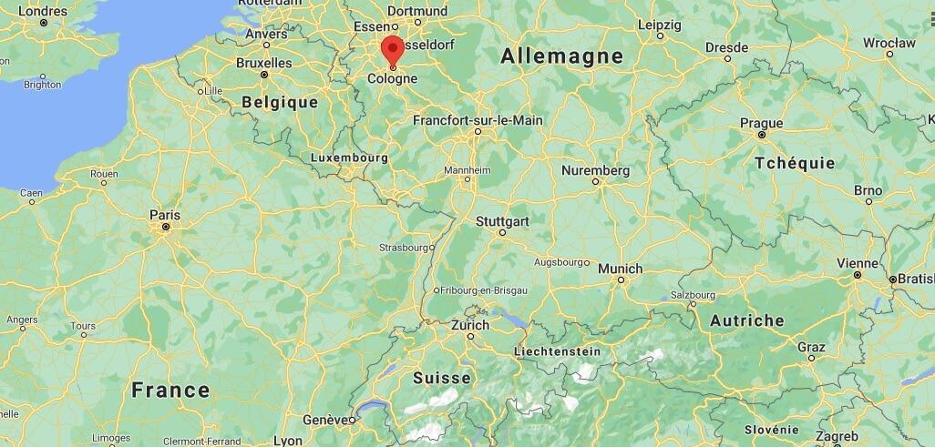 Où se trouve Cologne sur la carte