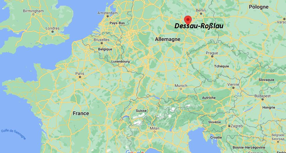 Où se trouve Dessau-Roßlau sur la carte