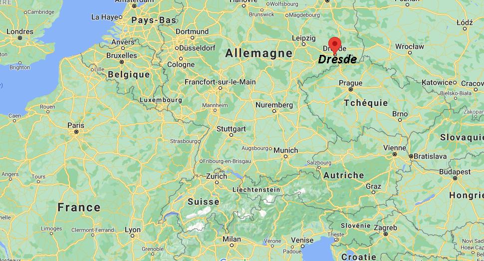 Où se trouve Dresde sur la carte