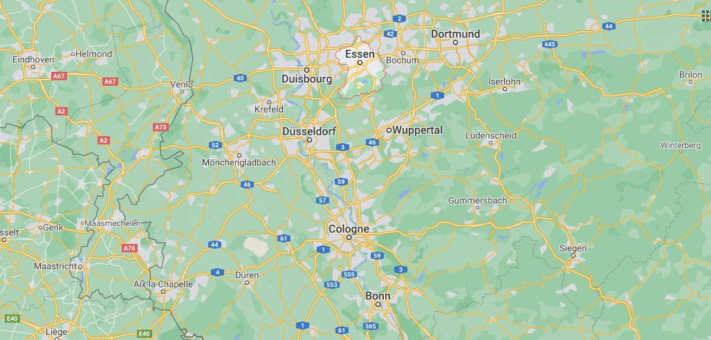 Où se trouve Essen sur la carte