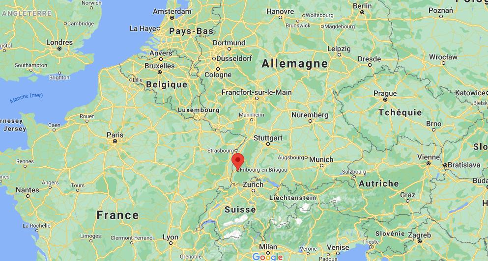Où se trouve Freiburg sur la carte