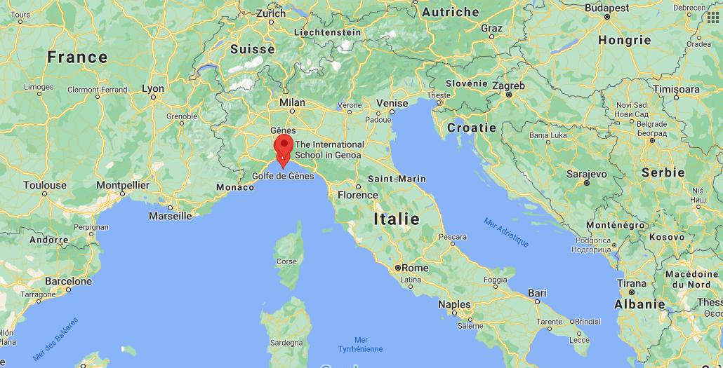 Où se trouve Gênes sur la carte