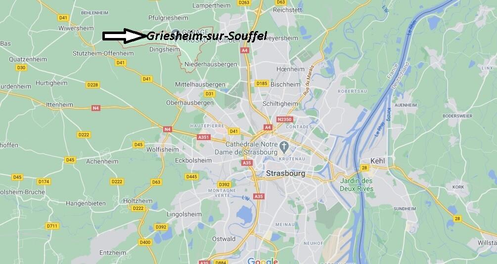 Où se trouve Griesheim-sur-Souffel