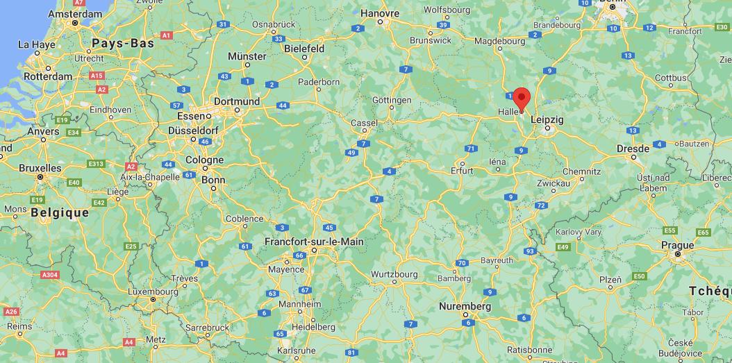 Où se trouve Halle sur la carte
