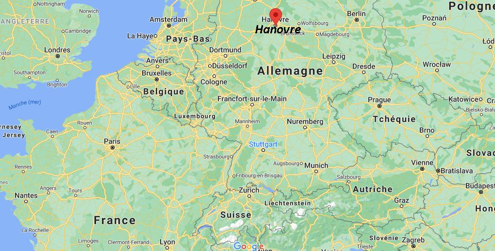Où se trouve Hanovre sur la carte