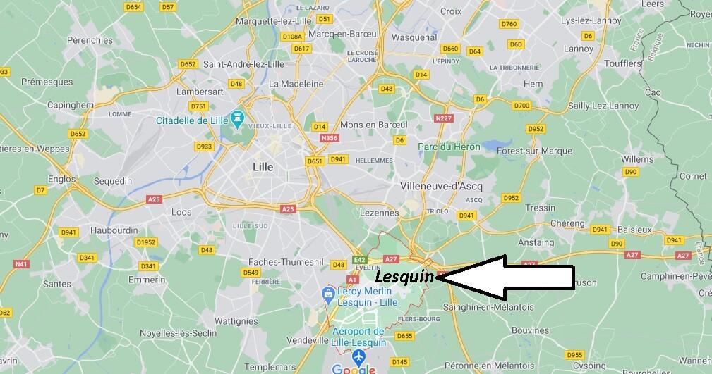 Où se trouve Lesquin