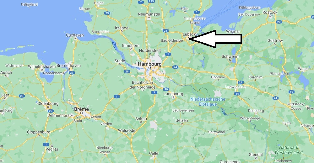 Où se trouve Lübeck