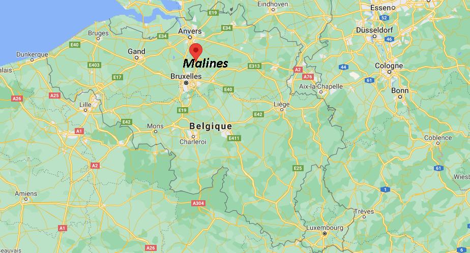 Où se trouve Malines sur la carte