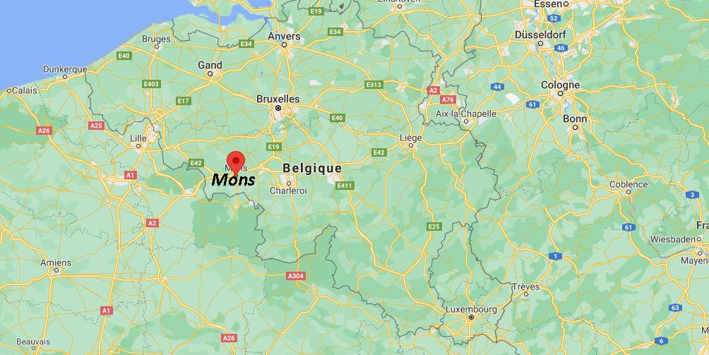 Où se trouve Mons sur la carte