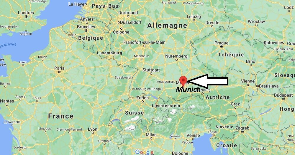 Où se trouve Munich sur la carte