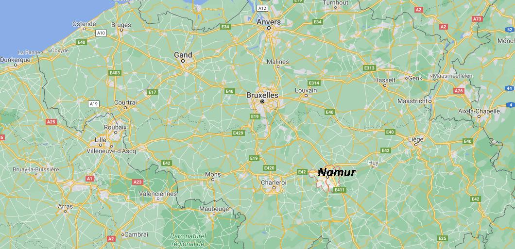 Où se trouve Namur sur la carte