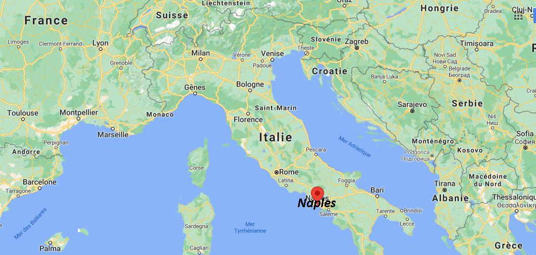 Où se trouve Naples sur la carte