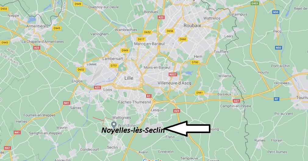 Où se trouve Noyelles-lès-Seclin