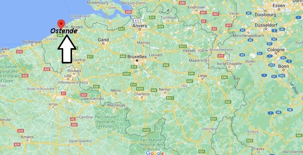 Où se trouve Ostende