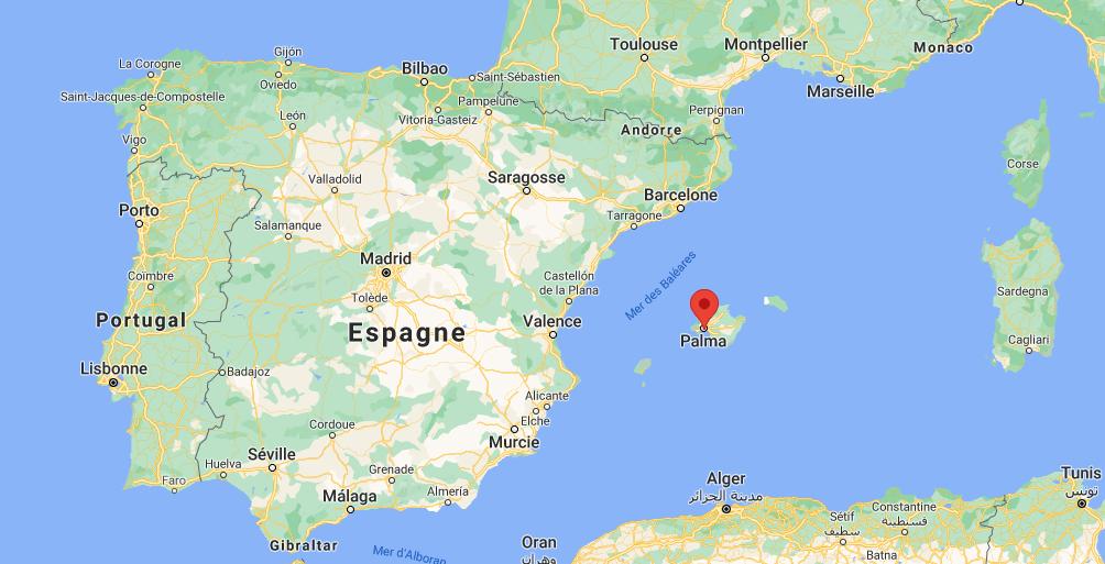 Où se trouve Palma de Mallorca sur la carte