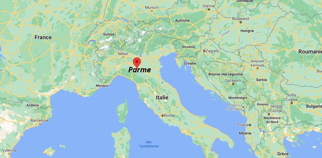 Où se trouve Parme sur la carte