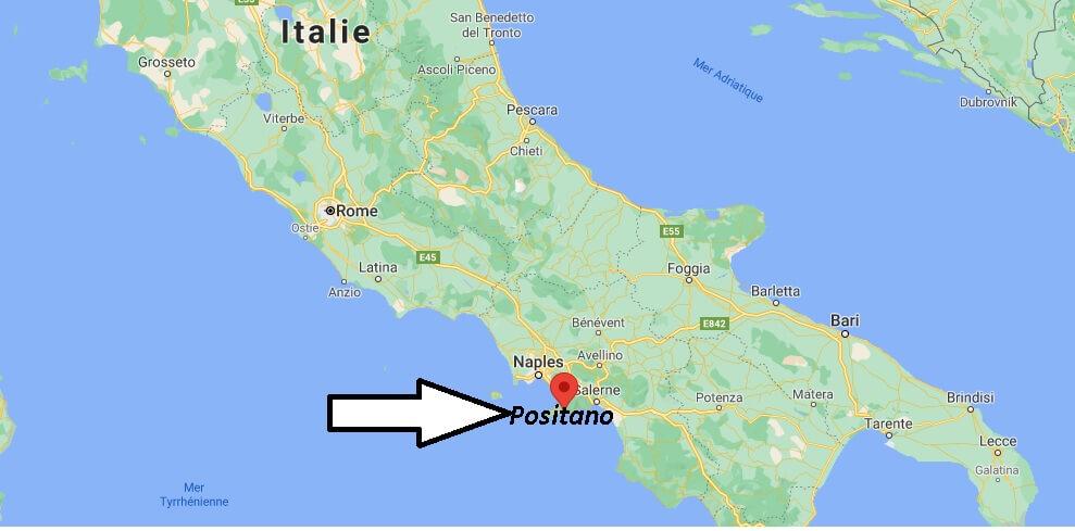 Où se trouve Positano