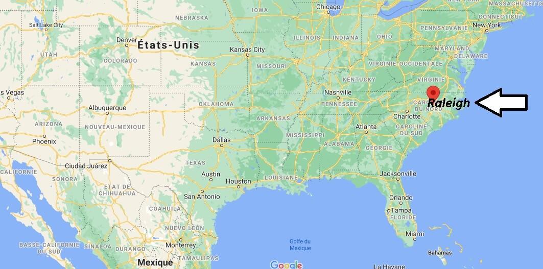 Où se trouve Raleigh