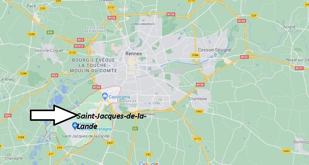 Où se trouve Saint-Jacques-de-la-Lande