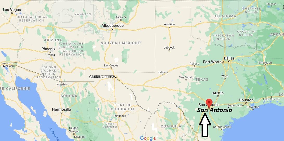 Où se trouve San Antonio