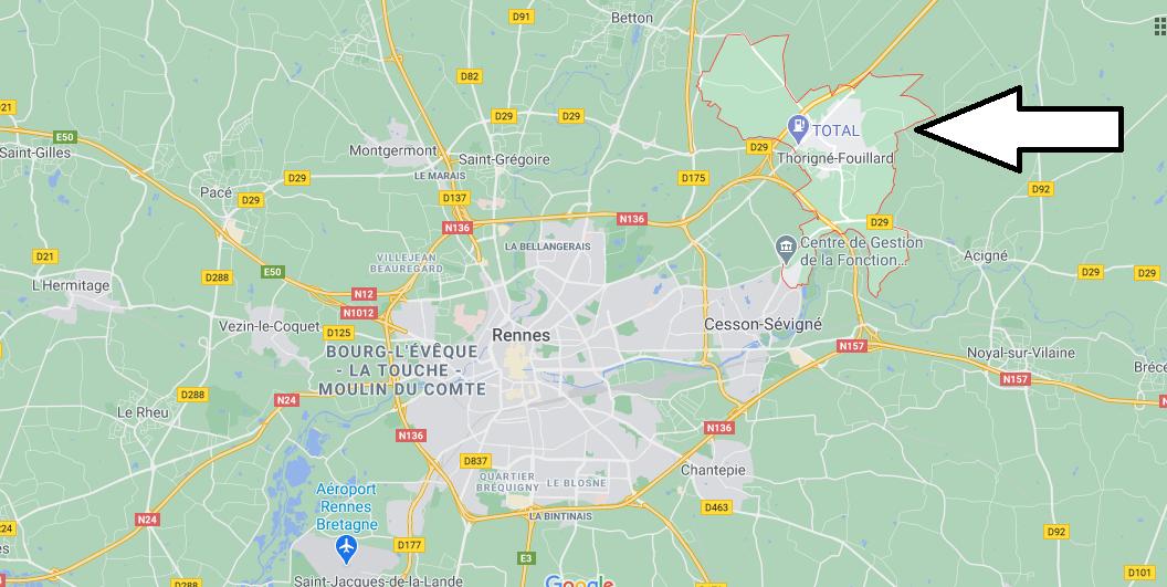 Où se trouve Thorigné-Fouillard