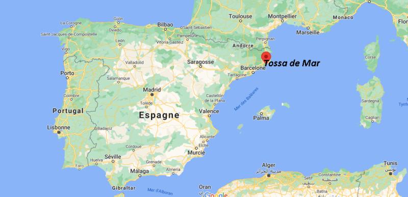 Où se trouve Tossa de Mar sur la carte