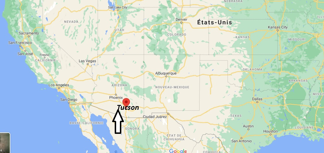Où se trouve Tucson