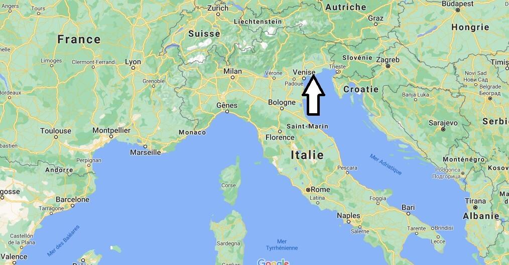 Où se trouve Venise