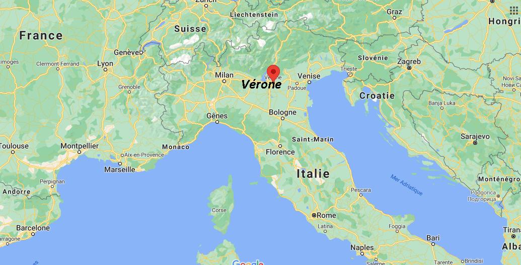 Où se trouve Vérone sur la carte
