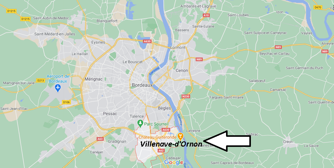 Où se trouve Villenave-d-Ornon